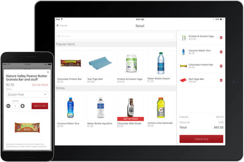 app and tablet retail